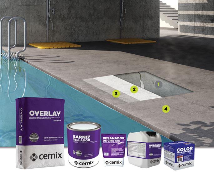 oxidante de concreto